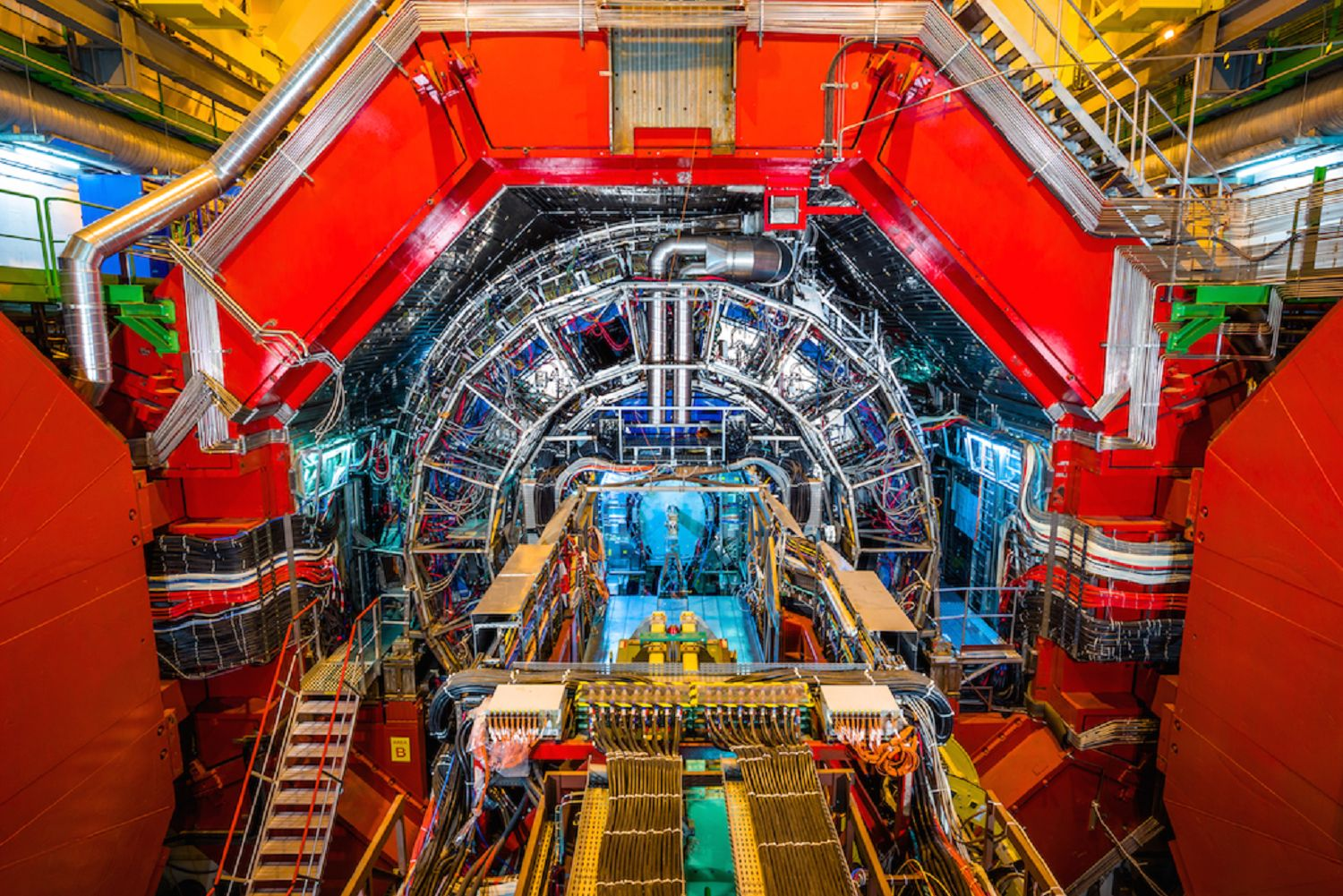 The Large Hadron Collider the world's largest and most powerful particle accelerator.