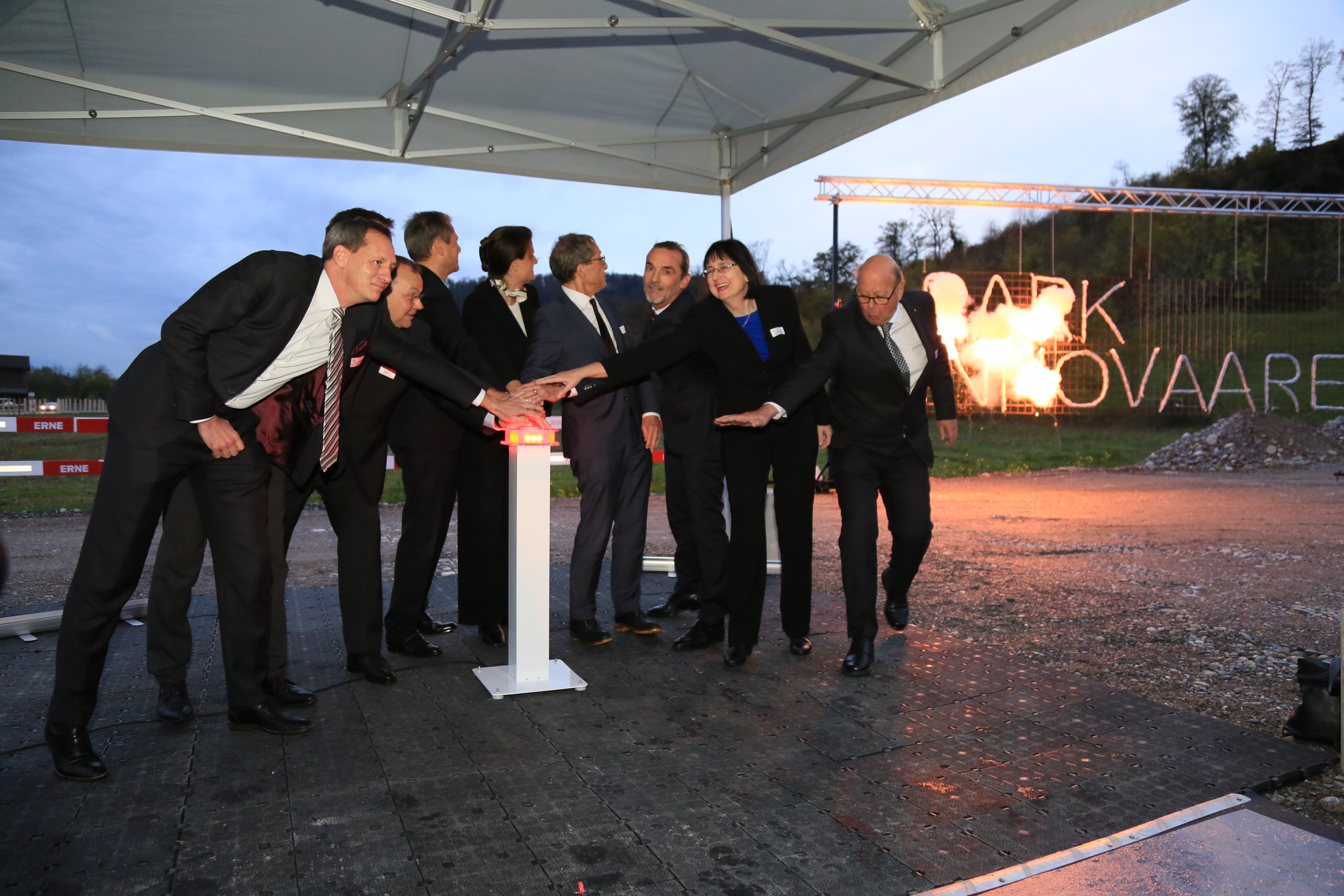 Lighting ceremony of the PARK INNOVAARE symbol & groundbreaking of the new innovation campus.