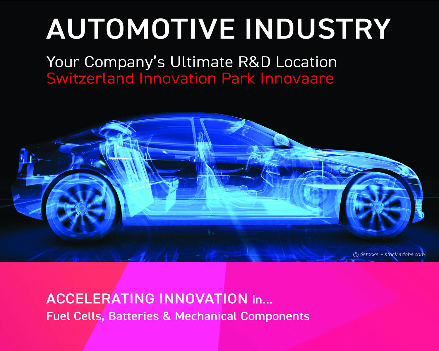 Automotive Brochure Cover Image © Switzerland Innovation Park Innovaare